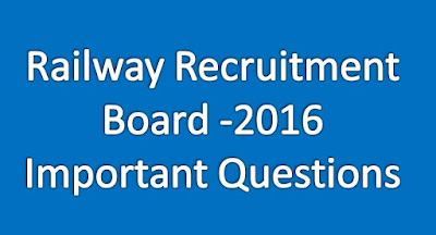 CBT Online Bits For RRB - 2016 For The Posts Of TC ,ASM And All Competitive Exams