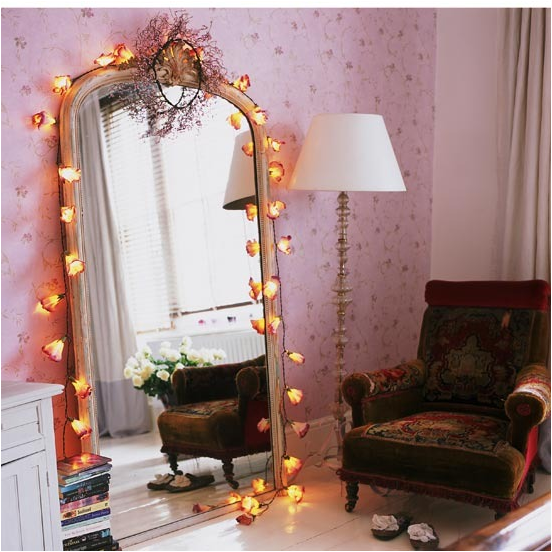 Key interiors by shinay vintage style teen girls bedroom for Room decor with fairy lights