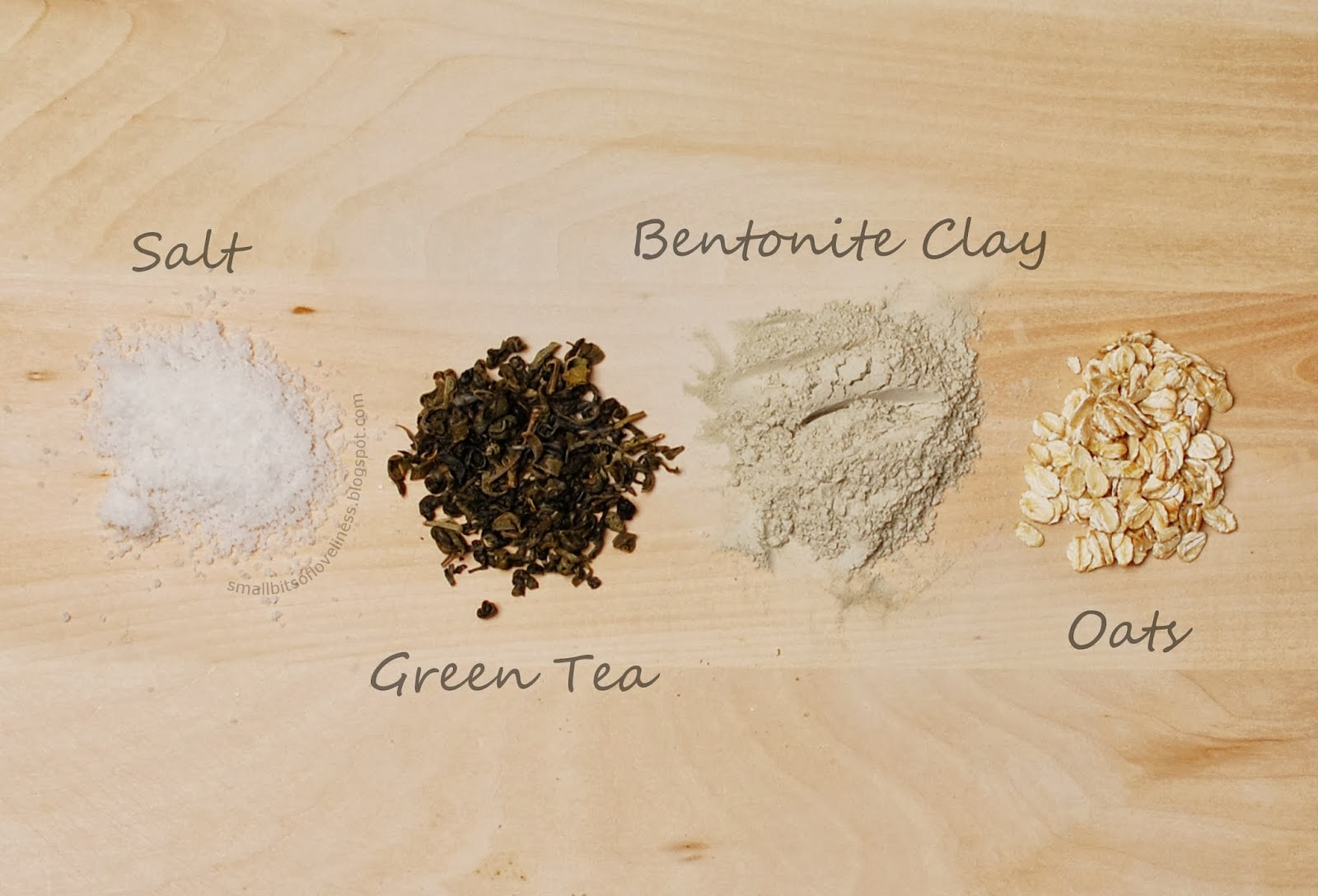 Detox Bath, Salt, Bentonite Clay, Green Tea, Oats