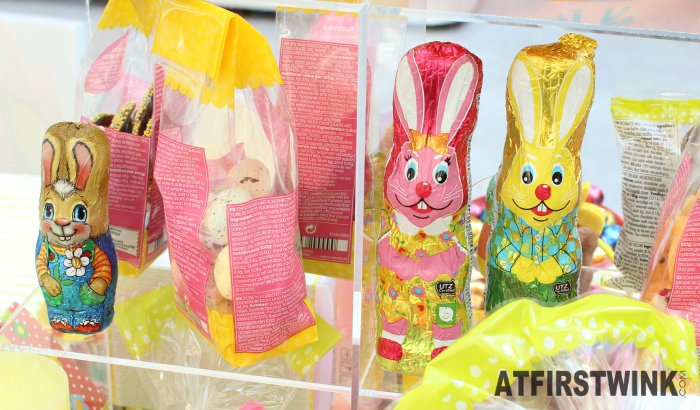 HEMA chocolate Easter bunnies with metallic wrapper