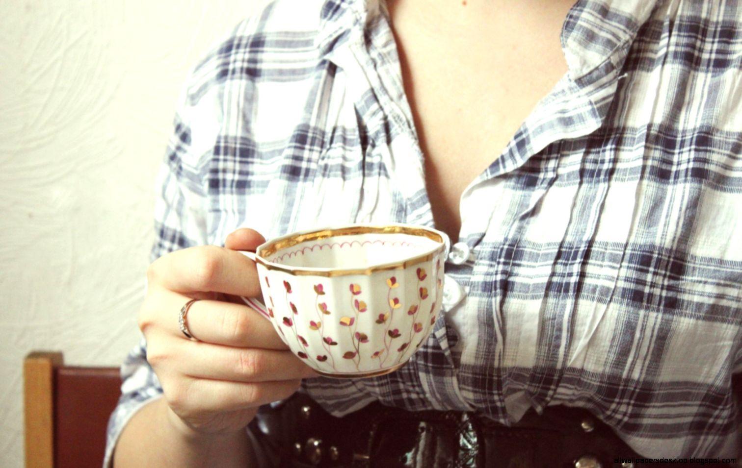 Coffee Cup Girl Ring Mood Shirt Chair HD Wallpaper   HD