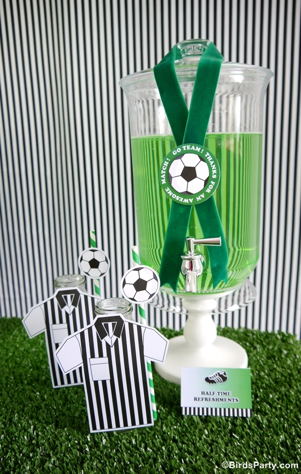 World Cup Party Ideas: Soccer Football Birthday Drinks