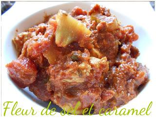Curry de tomate à la dinde