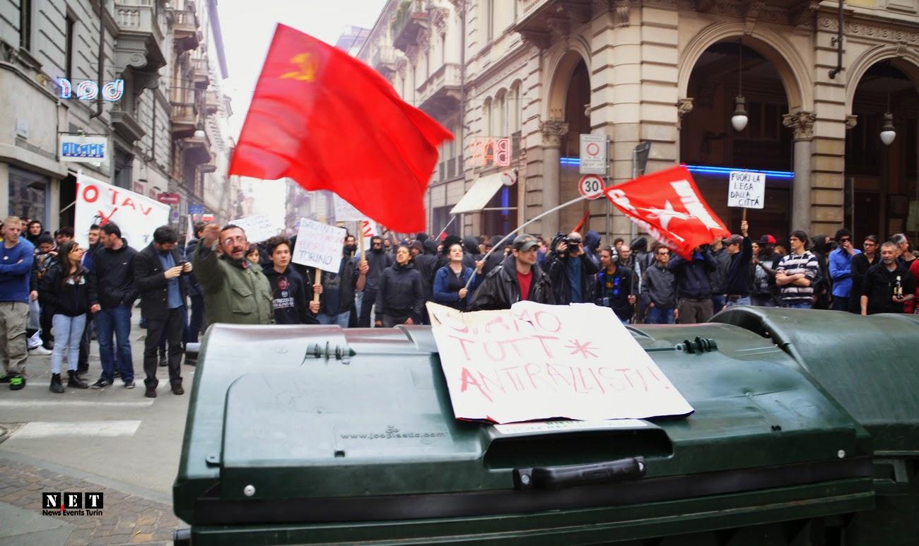 Mai Con Salvini scontri cariche Torino feriti