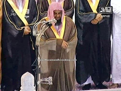 Syaikh Suud Shuraim saat mengimami shalat (haramainrecordings.com)