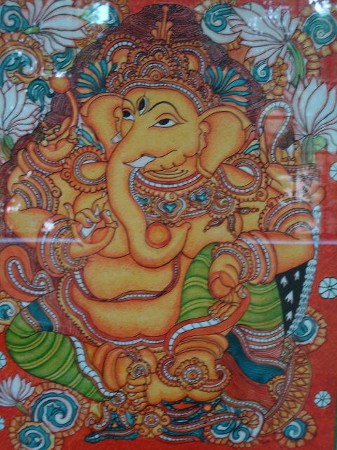 Renus arts n crafts keral mural painting for Mural ganesha