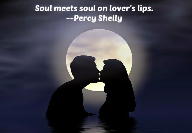 June Moon Couple Kissing Shelly Quote