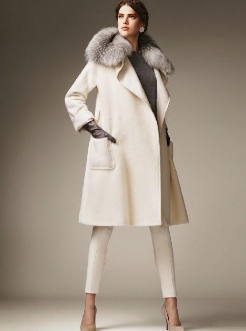 Max Mara Fall 2011 Alpaca coat with fur collar