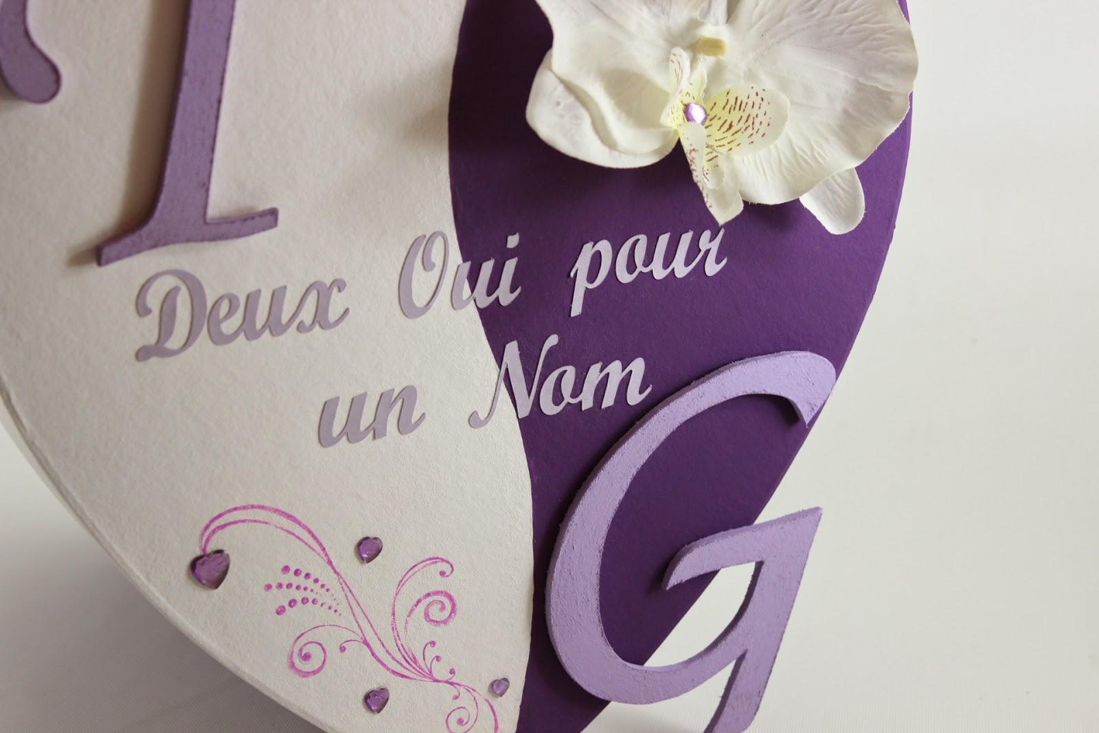 Bien connu Urne de mariage prune (violet) et blanche thème orchidée | L  EH36