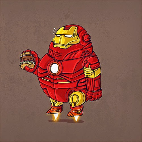 Fat Super Hero Gemuk - marvel Fat Iron Man