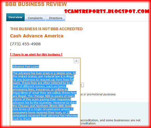 america cash advance bbb review