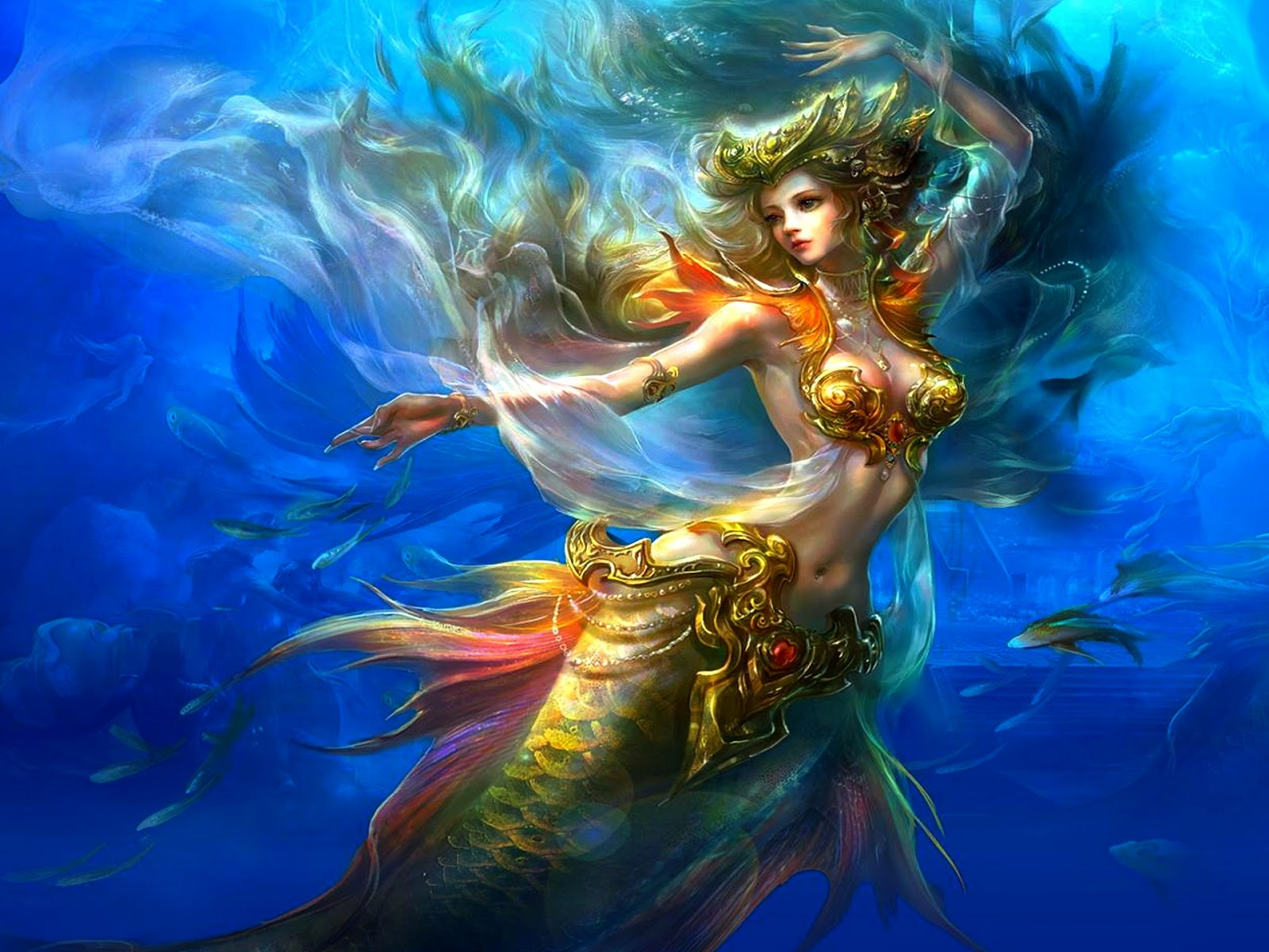 Most beautiful mermaid girl pictures fantasy graphics ...