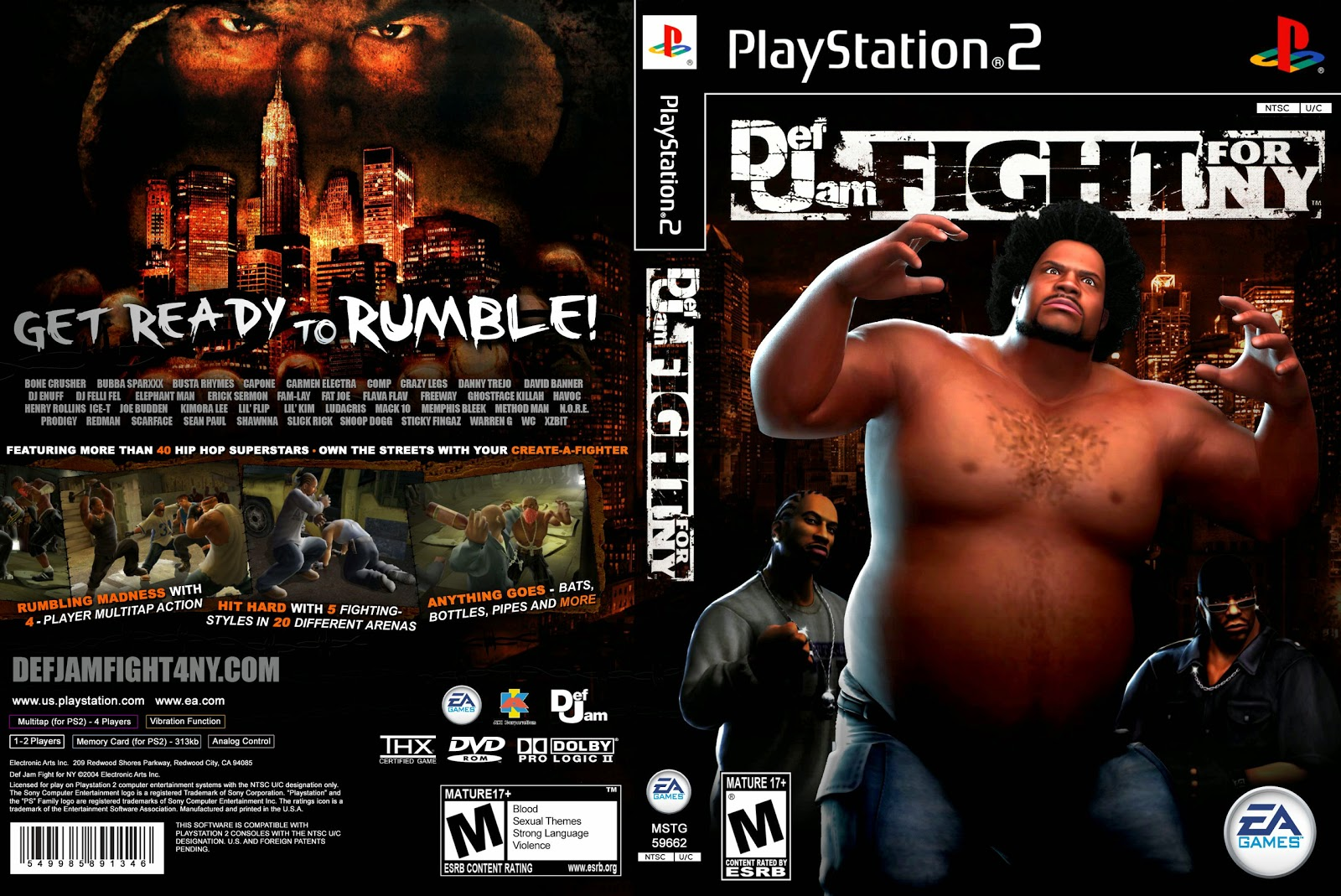 Capa Def Jam Fight For NY PS2