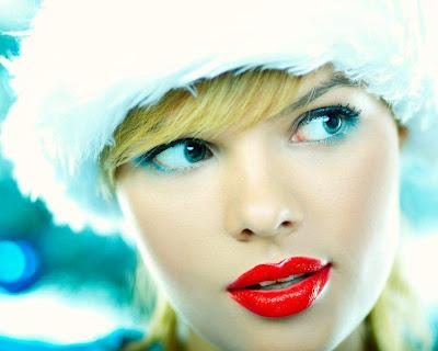 Red lips Asian Girls