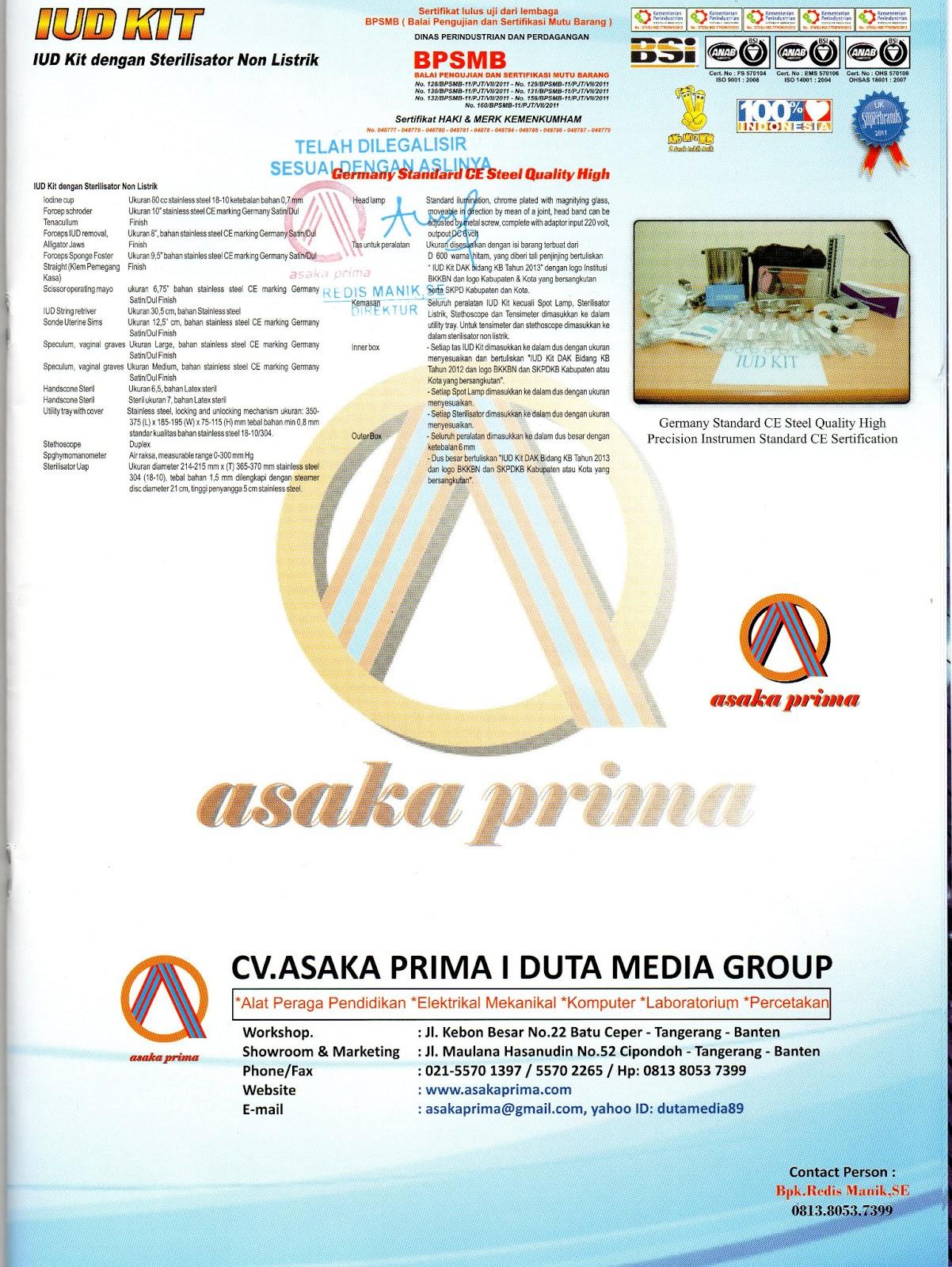 alkes iud-kit 2013, distributor iud kit, iud-kit dakbkkbn, iud-kit-sterilisator-listrik