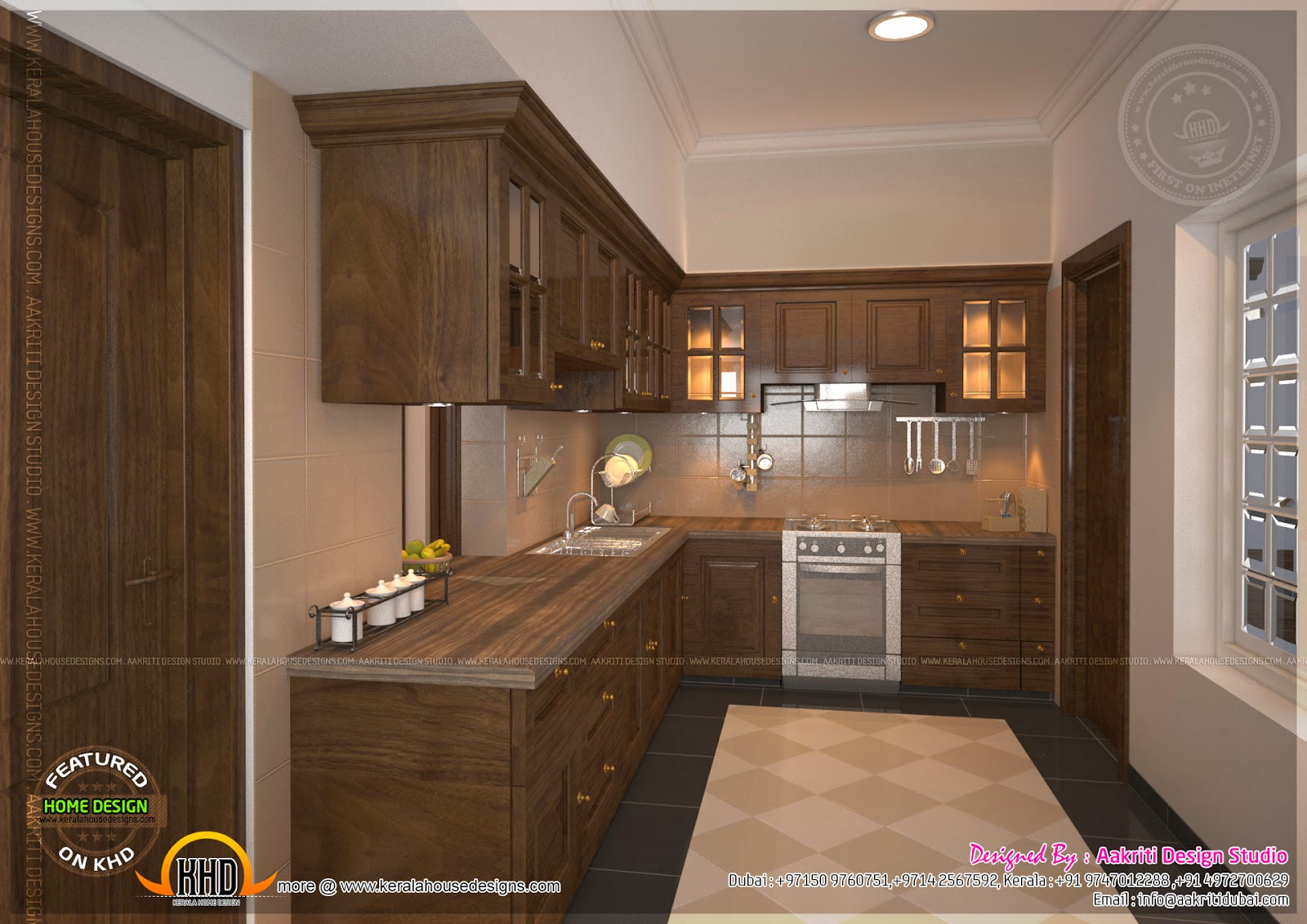 Kitchen designs by aakriti design studio home kerala plans for Kitchen design kerala