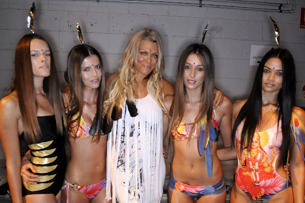 Lisa Burke's collection of bikinis made of hindu goddess