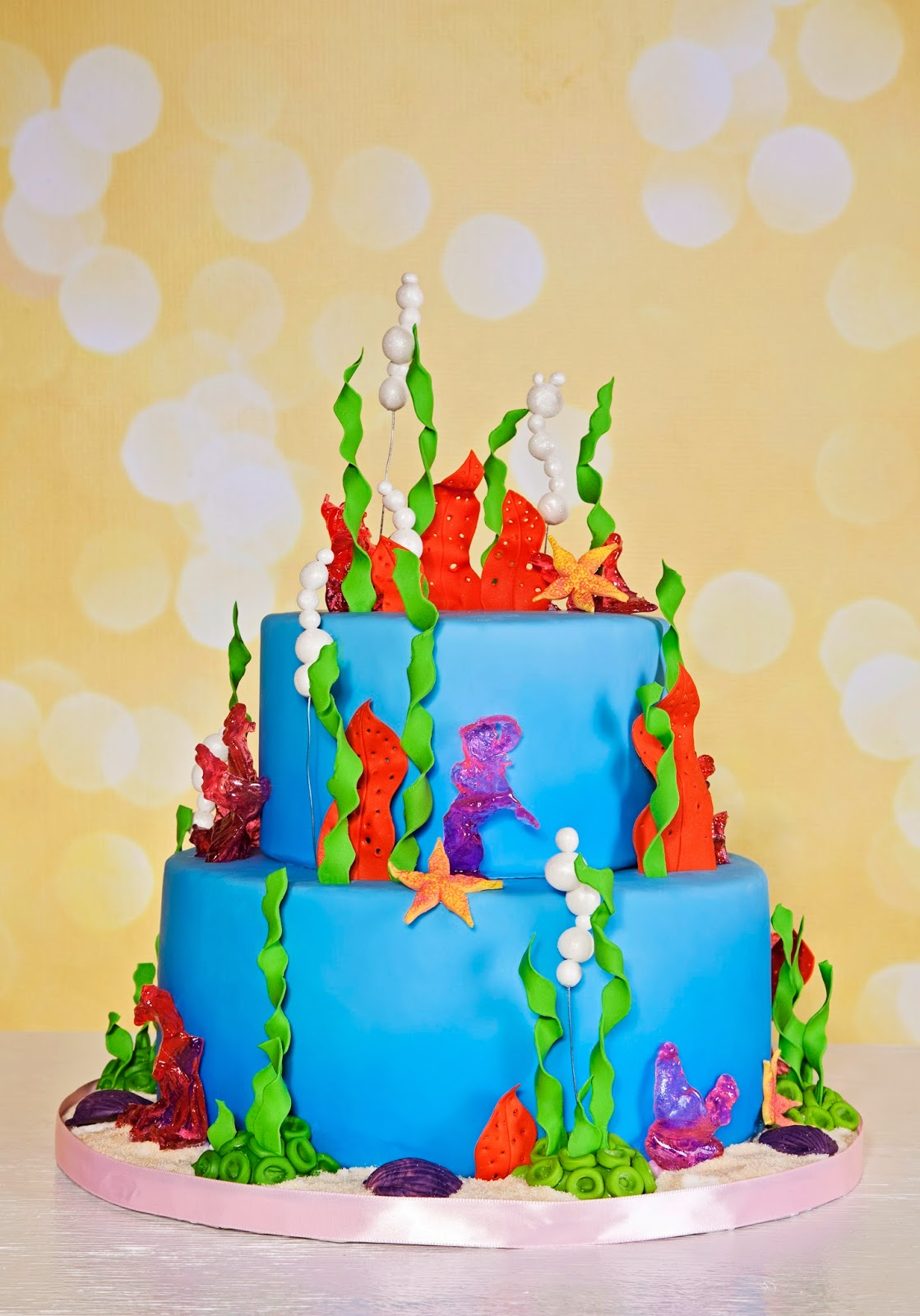 Delectable Cakes Under The Sea Little Mermaid Birthday Cake