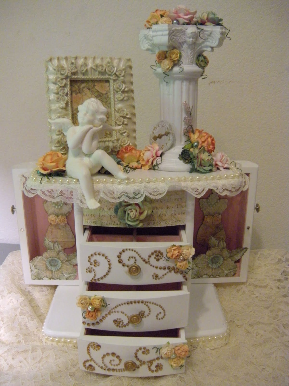 heirloom anthology shabby chic altered jewelry box. Black Bedroom Furniture Sets. Home Design Ideas