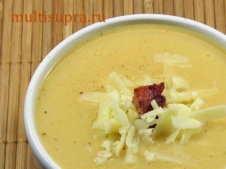 Сырный суп с цветной капустой в мультиварке