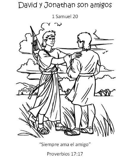 David And Jonathan Bible Coloring Page