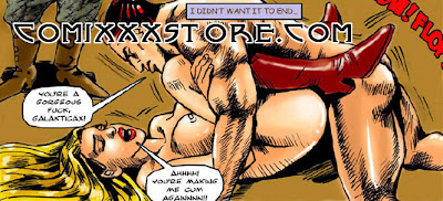 Sexy Superheroine XXX Adult comic book page sample