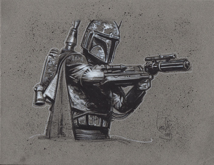 Boba Fett, Artwork is Copyright © 2014 Jeff Lafferty