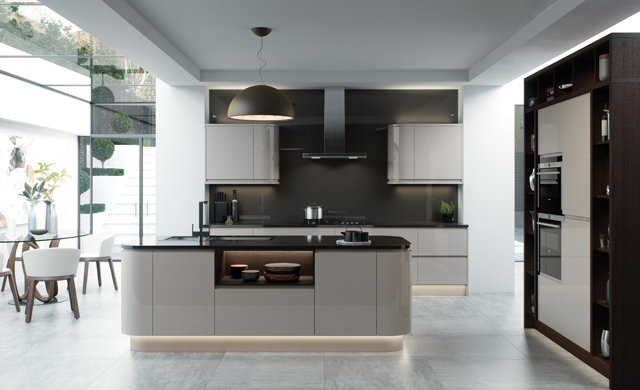 kitchens direct ni: the strada gloss cashmere - kitchens direct ni