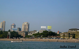 Famous Chowpatty Beach in Mumbai