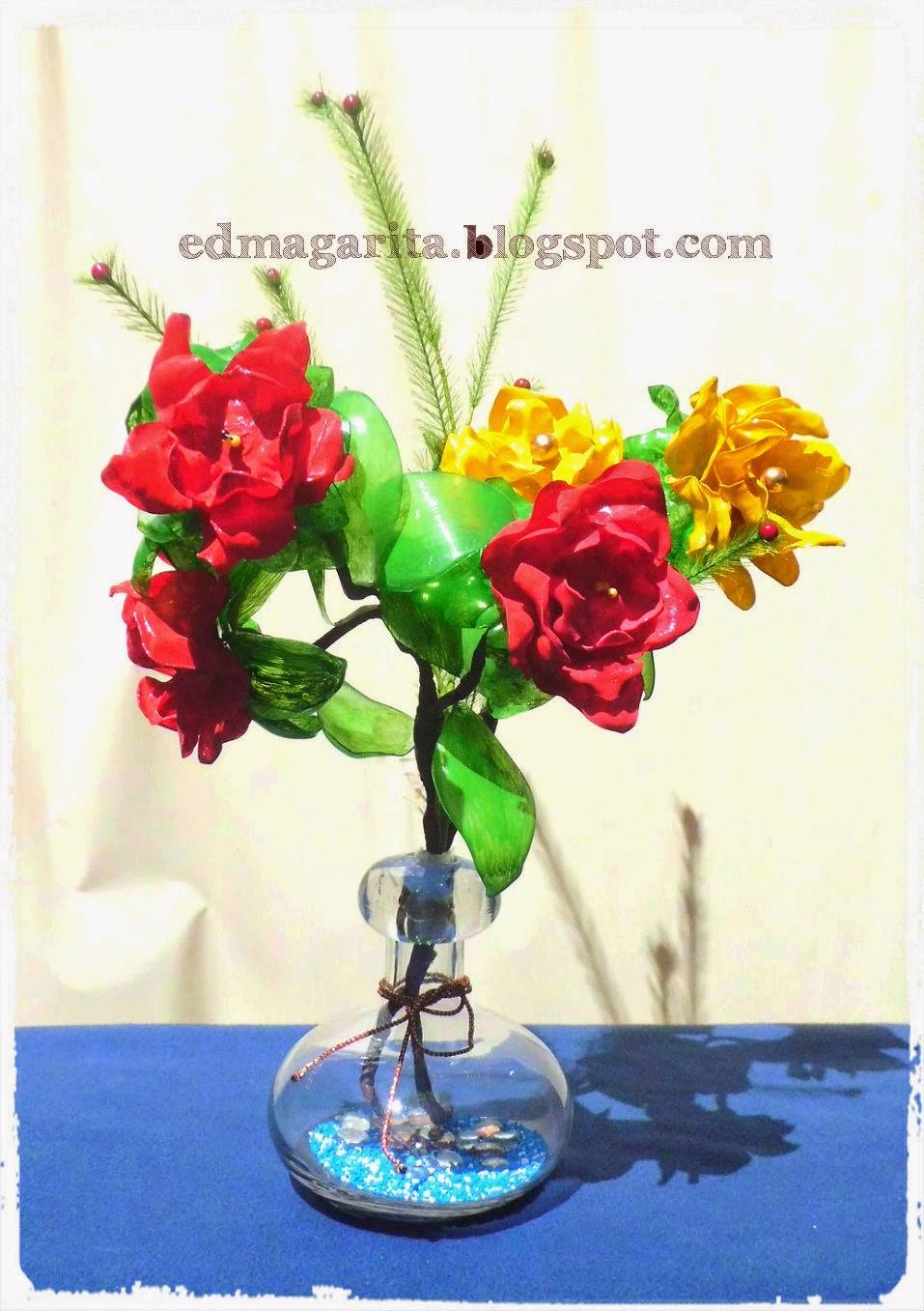 Arte manual arreglo floral centro de mesa pet para ver nuevamente el tutorial dale click a los videos thecheapjerseys Image collections