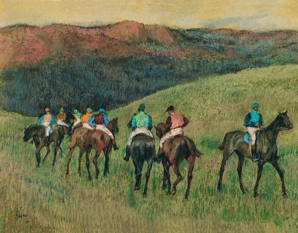Chevaux de course dans un paysage, 1894