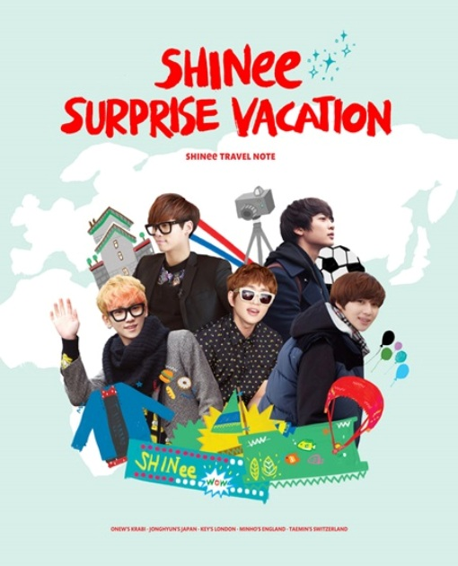 "SHINee Akan Rilis Jurnal Liburan ""SHINee Surprise Vacation"""
