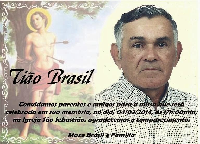 MISSA DE SAUDADE EM MEMÓRIA DO TIÃO BRASIL