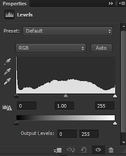 photoshop cs6 : level adjustment tool