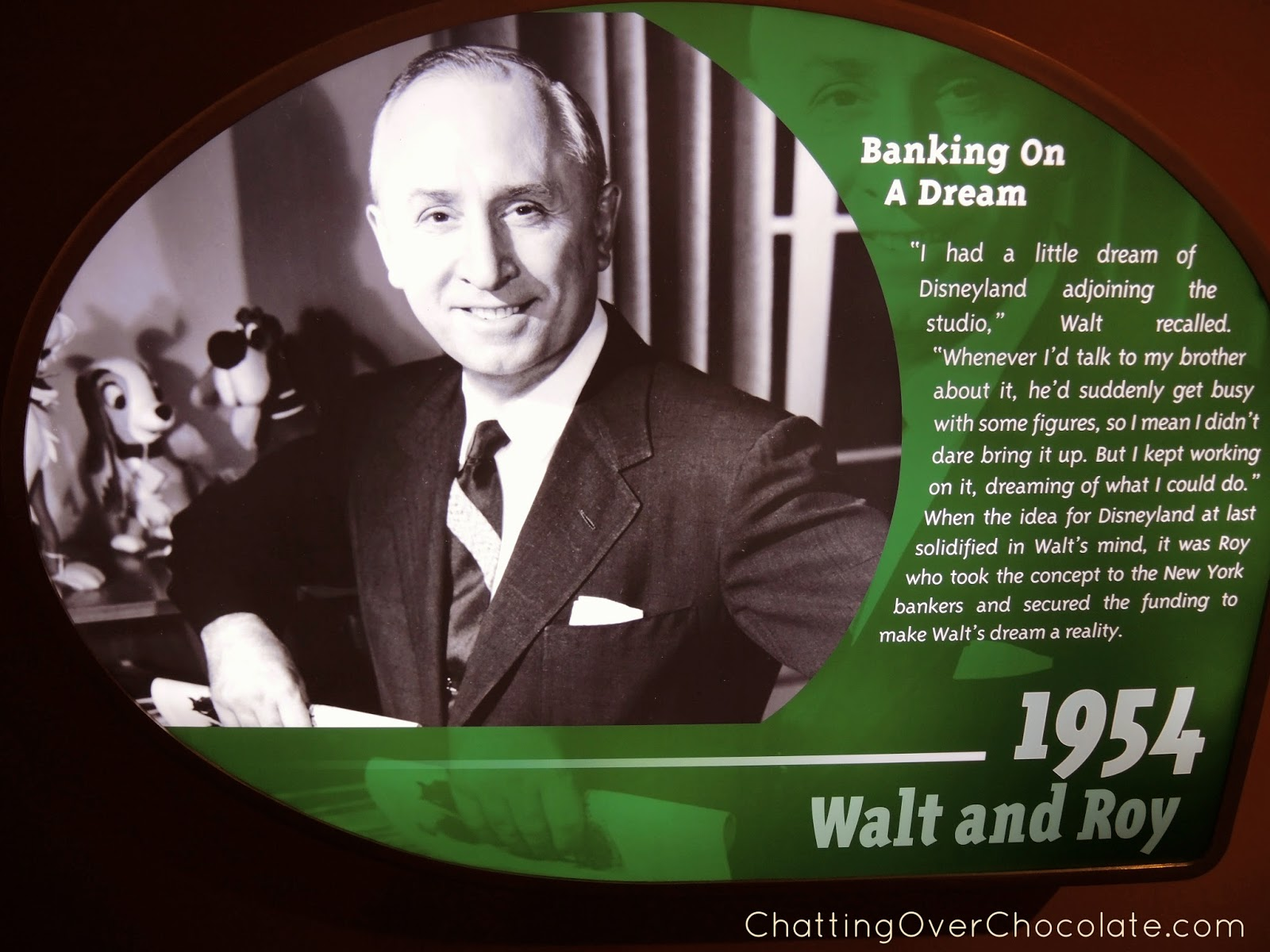 Chatting Over Chocolate: Walt Disney: One Man's Dream
