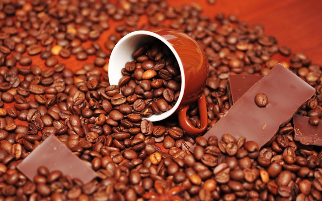 Chocolate Cup Coffee Beans