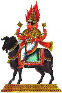 Picture of Lord Agni, Hindu God of Fire