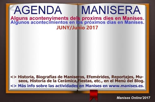AGENDA MANISERA, JUNIO 2017