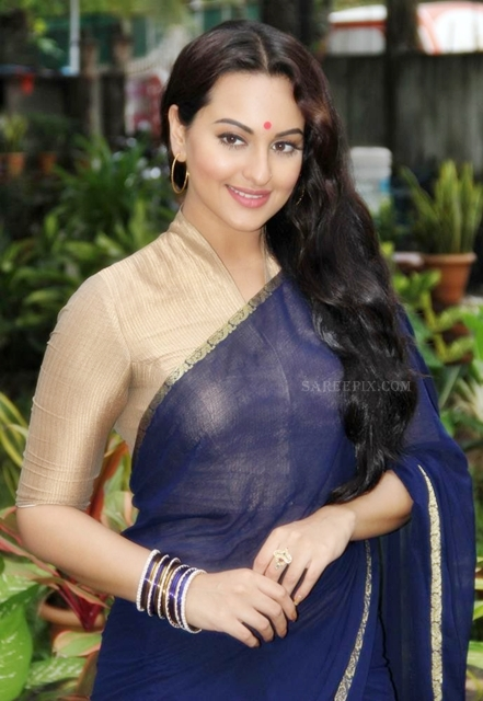 Sonakshi_sinha_blue_saree_Uttaran_serial_sets