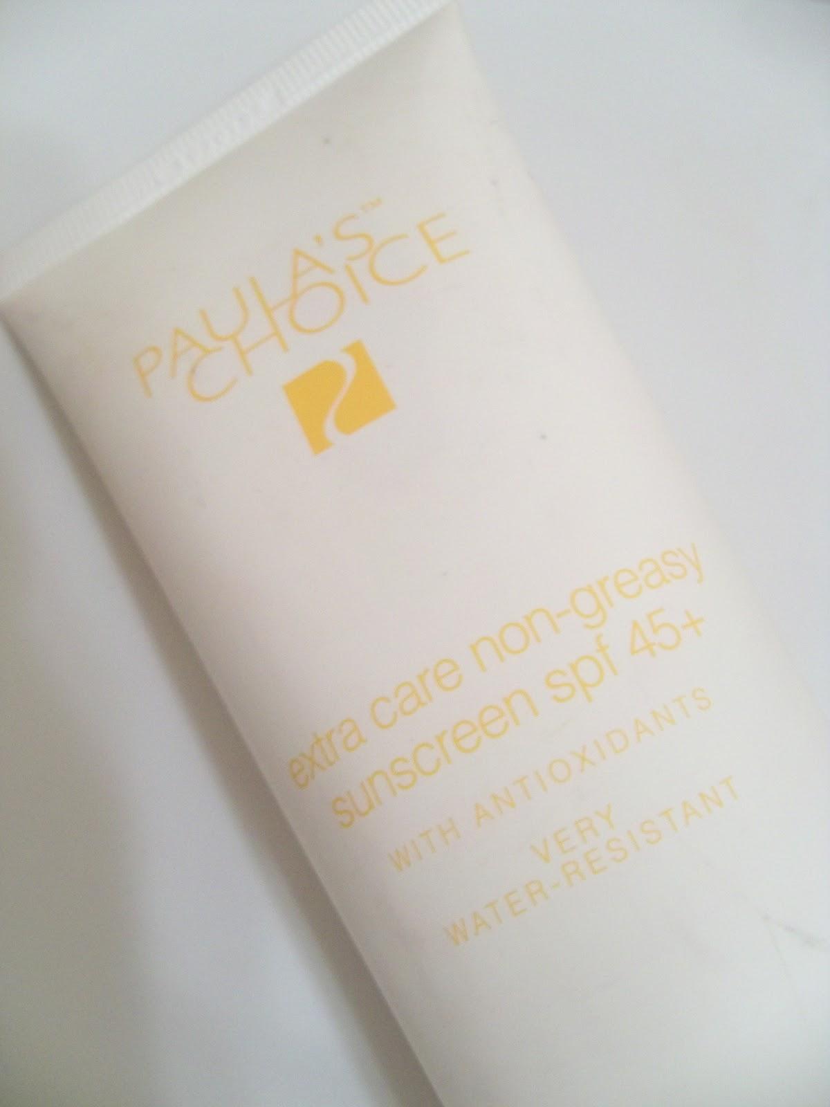 Redhead Makeup: HG Sunscreen: Paula's Choice Extra Care Non-Greasy SPF ...