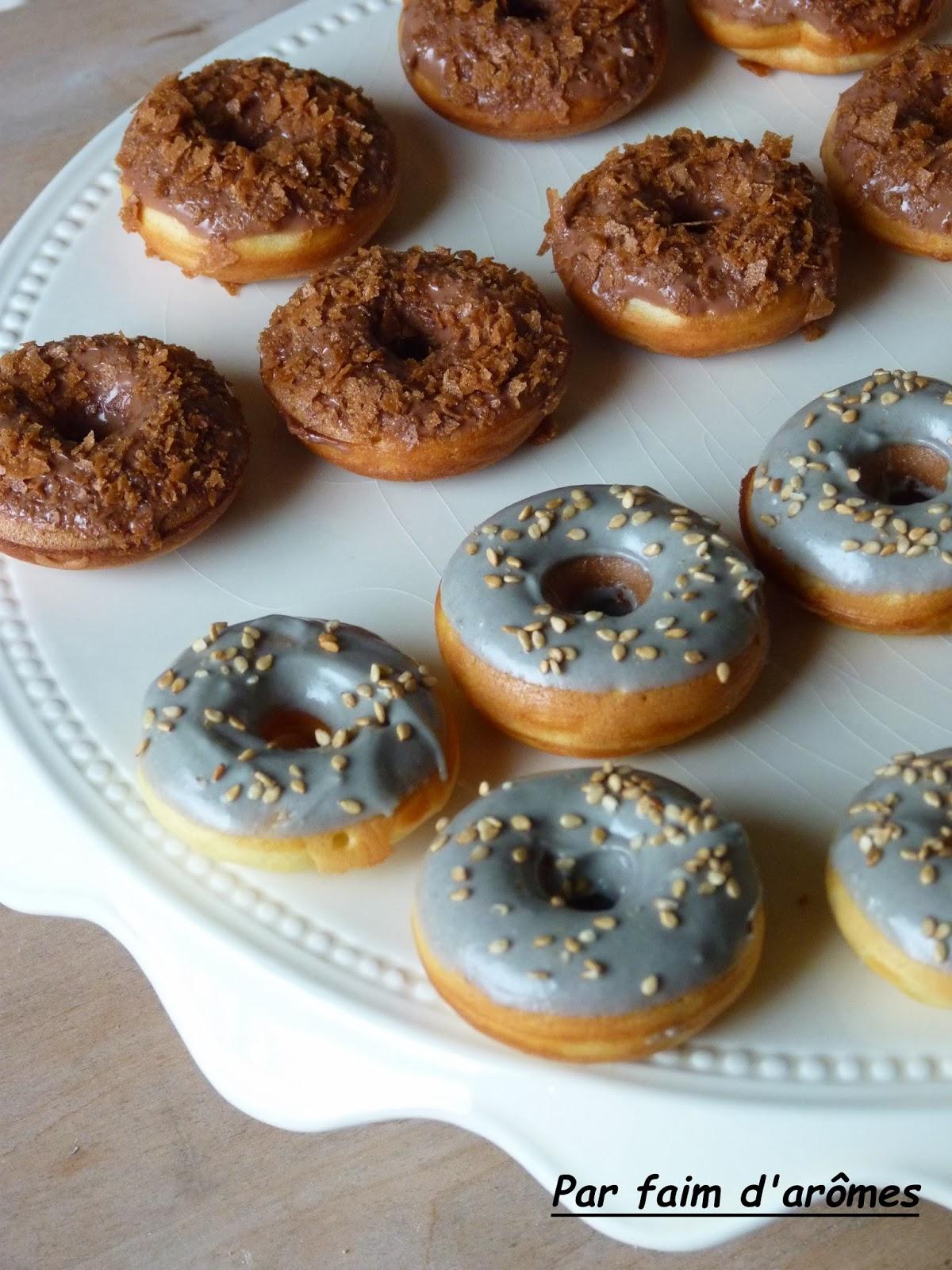Donuts praliné et sésame