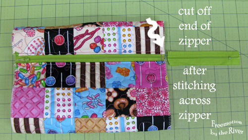 Cut off zipper end