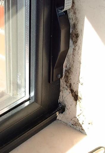 Puente térmico en mocheta de ventana.