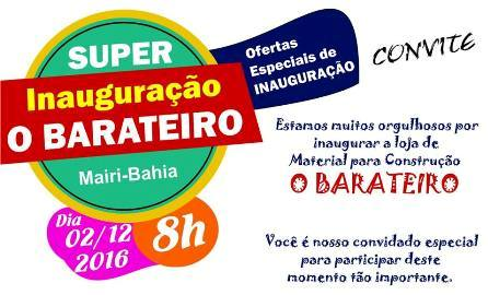 O BARATEIRO, EM MAIRI