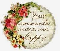 Ik ben blij met jullie lieve berichtjes ....