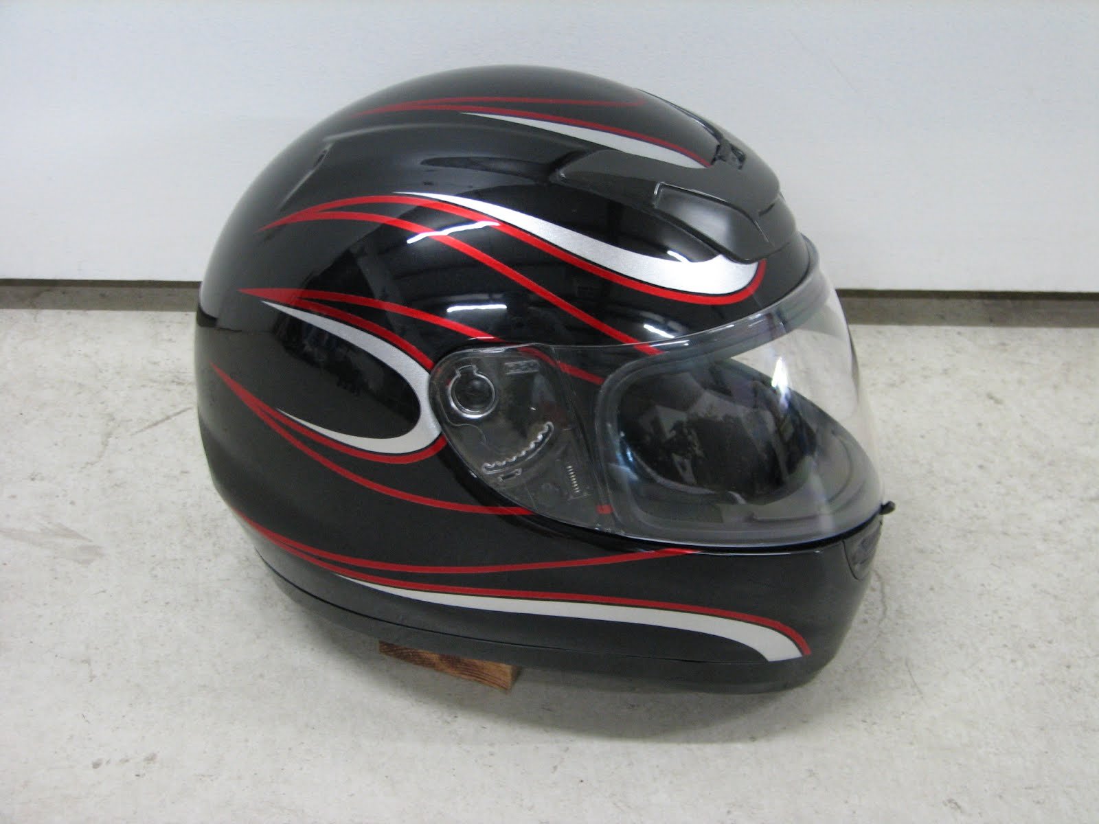 Black-Red Kawasaki Helmet