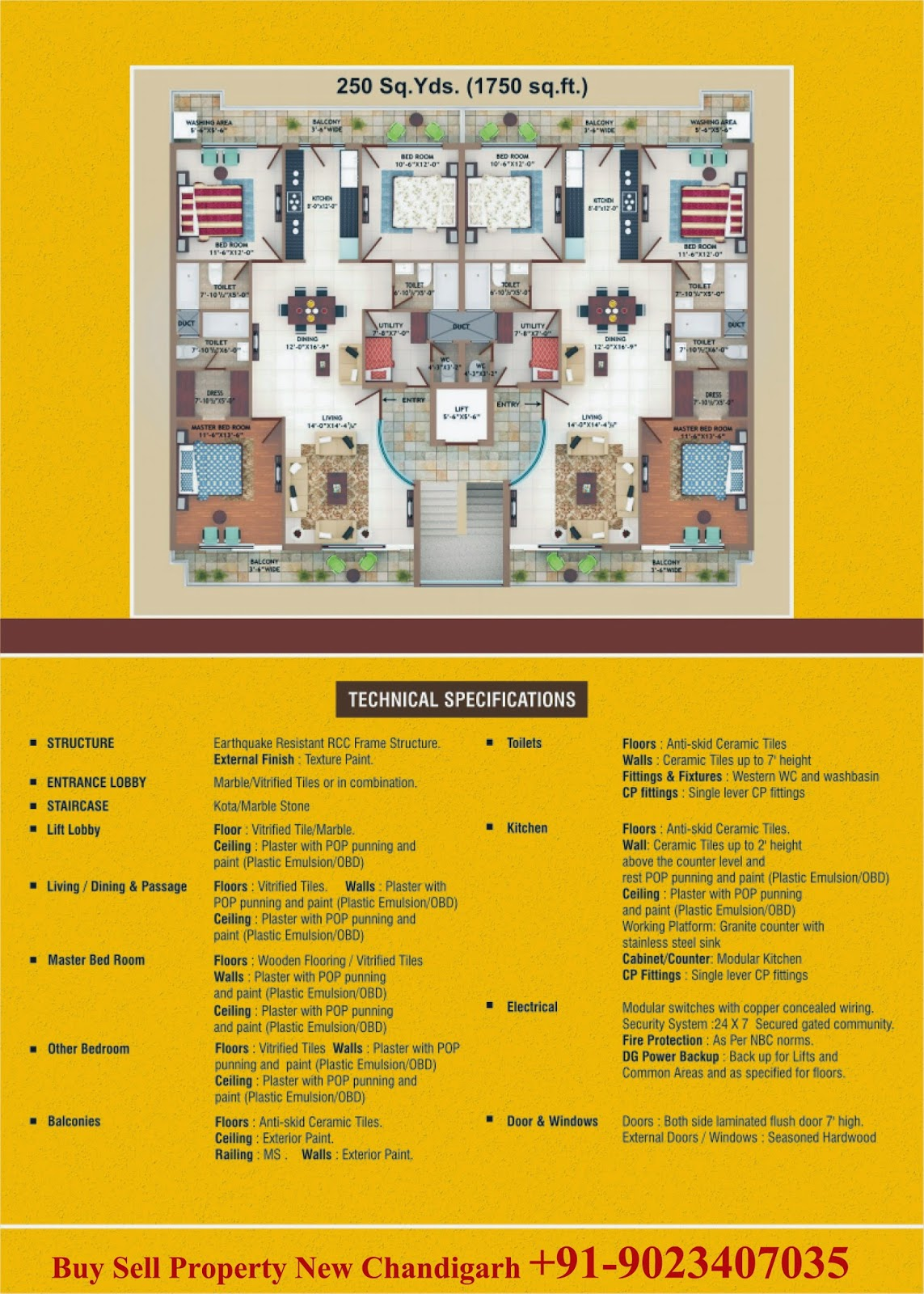 Park Terraces Floors at suntec city Mullanpur new chandigarh, Modern Living Welare Society