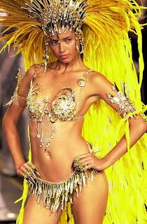 Adriana Lima hot carnival samba Rio beach