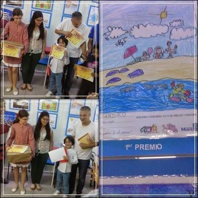 """Alejandro gana el Primer Premio del concurso de dibujo """"Helarte"""".¡¡Enhorabuena Campeón!!"""