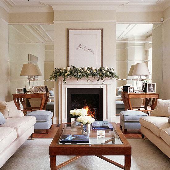 Glamorous Metallic Living Room